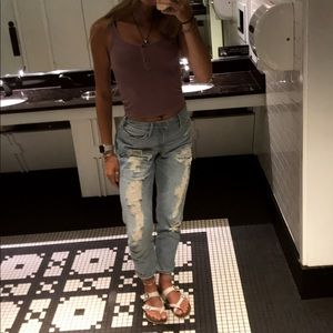 Hollister Jeans - Hollister ripped mom jeans